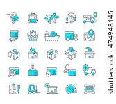 set of color delivery icons for ... | Shutterstock .eps vector #474948145