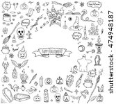hand drawn doodle happy... | Shutterstock .eps vector #474948187