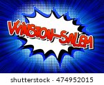 winston salem   comic book... | Shutterstock .eps vector #474952015