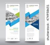 roll up business brochure flyer ...   Shutterstock .eps vector #474958651