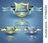 web police shield eps 10... | Shutterstock .eps vector #47496034