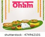 happy onam. food for hindu...   Shutterstock .eps vector #474962101