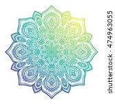 vector beautiful mandala.... | Shutterstock .eps vector #474963055