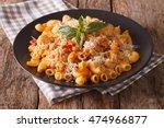 gomiti pasta with tomatoes ... | Shutterstock . vector #474966877