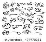 set of decorative elements.... | Shutterstock .eps vector #474970381