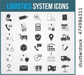 logistic vector system icons... | Shutterstock .eps vector #474986311