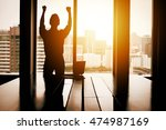 silhouette of success... | Shutterstock . vector #474987169