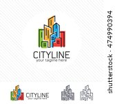 abstract city building logo... | Shutterstock .eps vector #474990394
