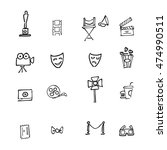 cinemas and movies cartoon... | Shutterstock .eps vector #474990511