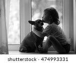 girl  dog | Shutterstock . vector #474993331