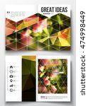 set of business templates for... | Shutterstock .eps vector #474998449