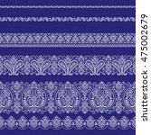 scarf ornament design | Shutterstock .eps vector #475002679