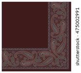 paisley scarf ornament   Shutterstock .eps vector #475002991