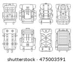 hiking backpack set in thin... | Shutterstock .eps vector #475003591