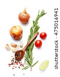 a food and healthy lifestyle... | Shutterstock . vector #475016941