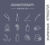 aromatherapy oils hand drawn... | Shutterstock .eps vector #475022725