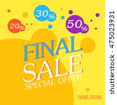 final sale poster. discount... | Shutterstock .eps vector #475023931