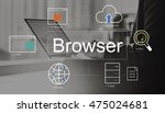 big data domain web page seo... | Shutterstock . vector #475024681