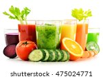 glasses with fresh organic... | Shutterstock . vector #475024771