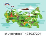 travel concept russia. national ... | Shutterstock .eps vector #475027204