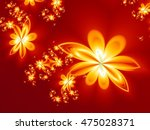 Flower Fire Pattern In Fractal...