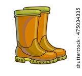 rain boots icon. fashion rain... | Shutterstock .eps vector #475034335