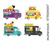 Food Truck Set  Coffee  Burger  ...