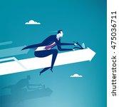 full throttle. manager driving... | Shutterstock .eps vector #475036711