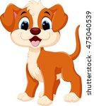 cute dog cartoon  | Shutterstock .eps vector #475040539