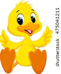 cute baby duck cartoon thumb | Shutterstock .eps vector #475041211