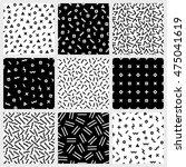 monochrome geometric line... | Shutterstock .eps vector #475041619