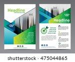 green brochure layout design... | Shutterstock .eps vector #475044865