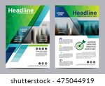 green brochure layout design... | Shutterstock .eps vector #475044919