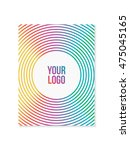 colorful flyer with copy space. ... | Shutterstock .eps vector #475045165