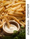 fries french sour cream herb... | Shutterstock . vector #475047439