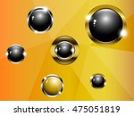 ball black and gold on a gold... | Shutterstock .eps vector #475051819