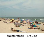 This is a shot taken on a beautiful beach day at Island Beach State Park along the Jersey shore. - stock photo