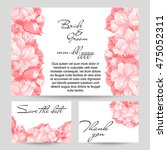 romantic invitation. wedding ... | Shutterstock .eps vector #475052311