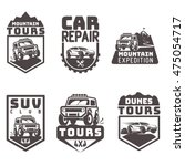 suv 4x4 off road icon logo... | Shutterstock .eps vector #475054717