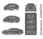 car sedan all view icons set... | Shutterstock .eps vector #475054741