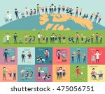 school education in the world... | Shutterstock .eps vector #475056751