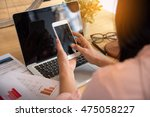 beautiful business working... | Shutterstock . vector #475058227