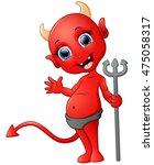 Red Devil Cartoon Holding...
