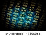 Financial data- stock exchange- dramatic spotlight - stock photo