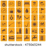 set of camping equipment icons. ... | Shutterstock .eps vector #475065244