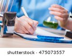 young student working with... | Shutterstock . vector #475073557