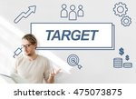 Small photo of Target Accomplished Reached Goals Graphic Concept