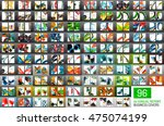 mega collection of 96 vector... | Shutterstock .eps vector #475074199