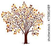 autumn tree with colorful... | Shutterstock .eps vector #475081489