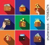 wallet flat icon set... | Shutterstock .eps vector #475082674